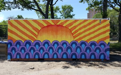 New Murals at East River Park Compost Yard