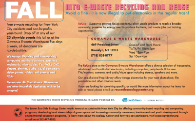 Fall Into E-Waste Recycling and Reuse!