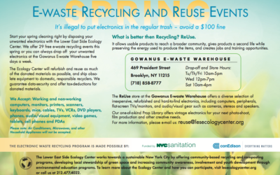 Spring Forward to our Electronic Waste Events!