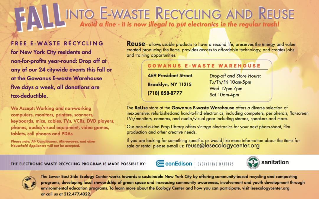 2017 Fall E-Waste Events