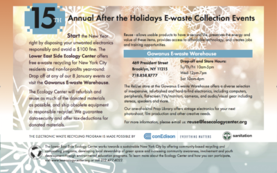 15th Annual After-the-Holidays E-waste Events