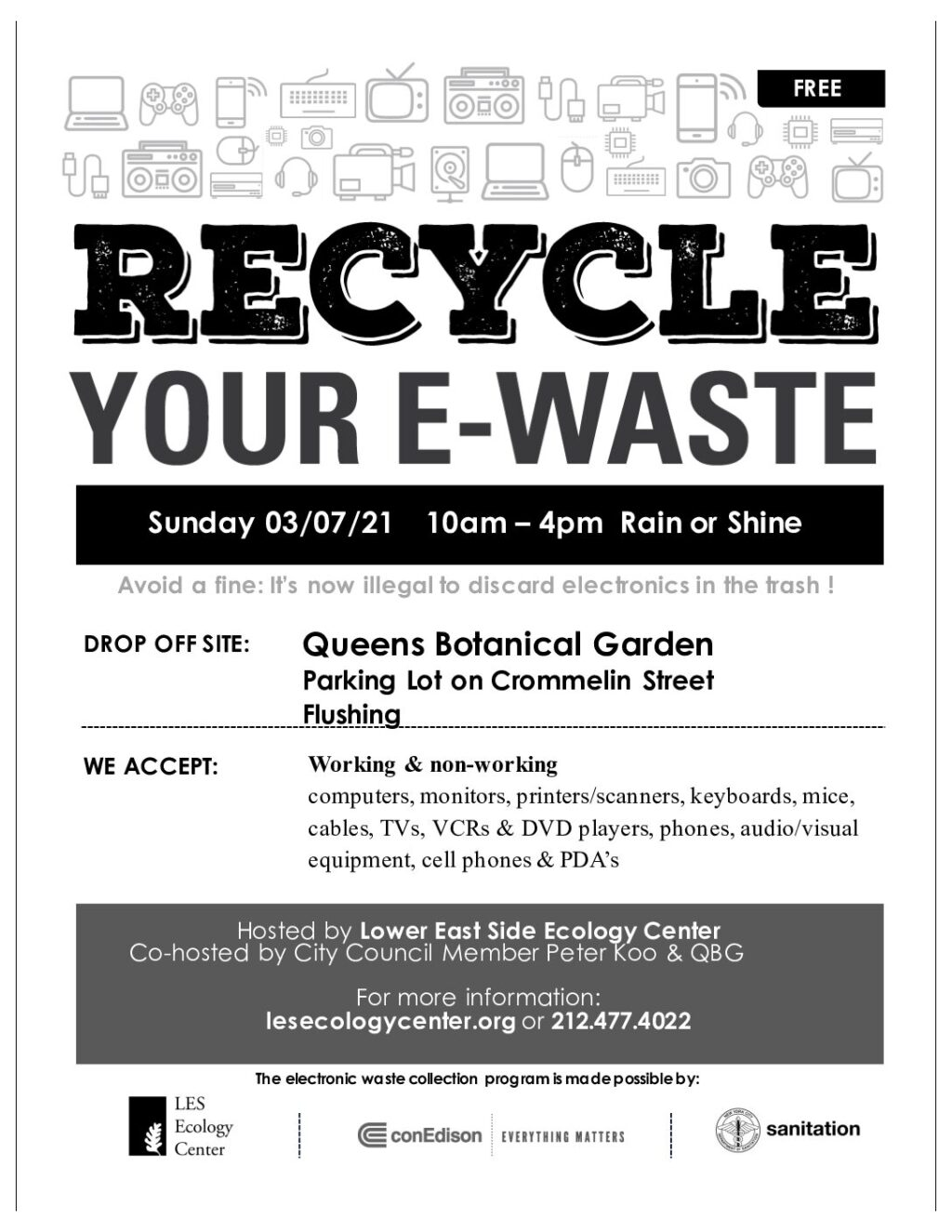 E Waste Recycling Event Forest Park Woodhaven Les Ecology Center